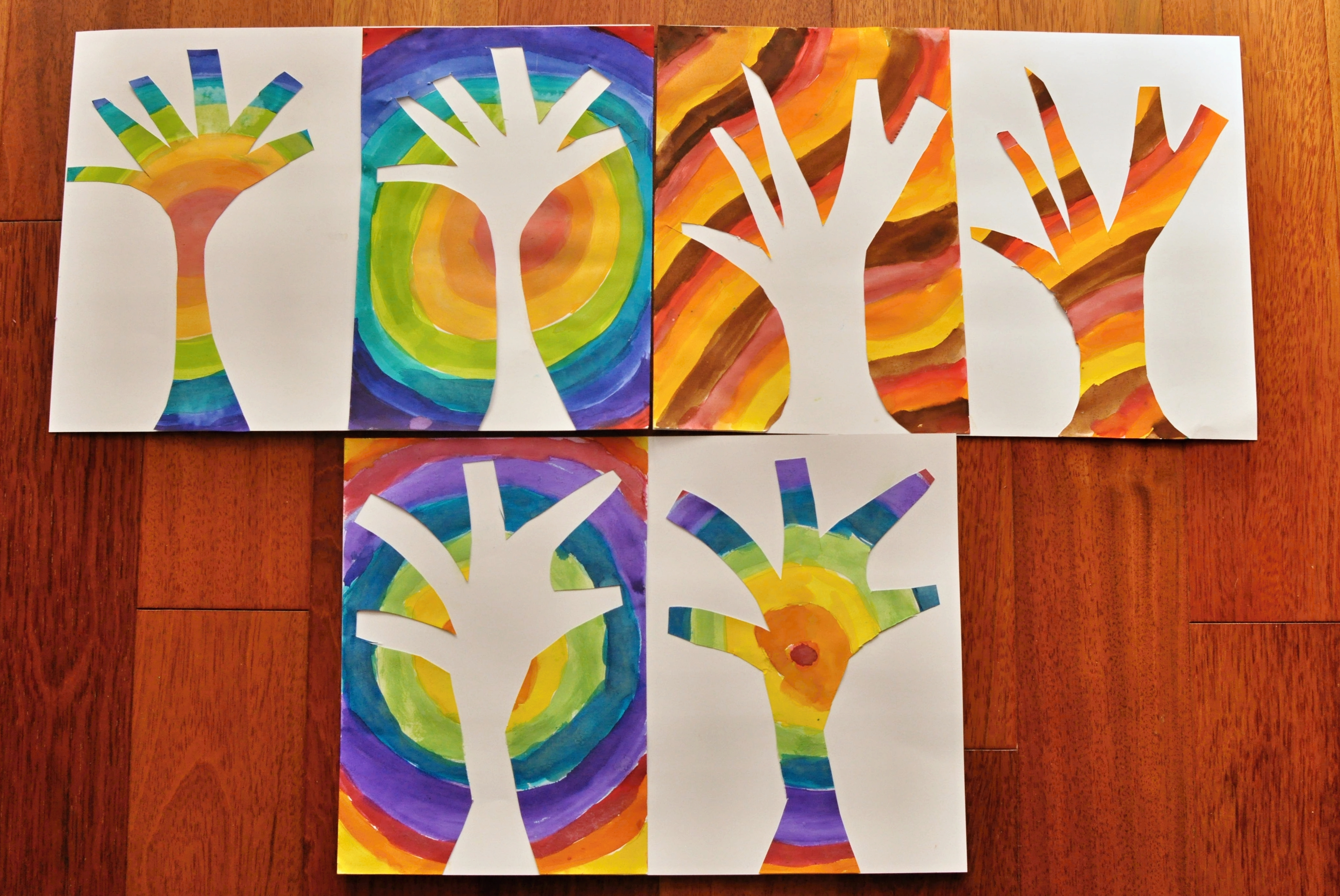 pozitív-negatív jesenné stromy